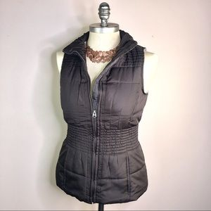 Outer Edge Brown Puffer Vest Zip Front S